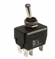 WEATHERPROOF <br>Toggle switch HEAVY DUTY <BR> ON-OFF-ON DPDT 20Amp  rated <br>ALT/SW-R13-448E1-1-25